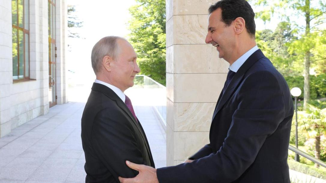 Russian-President-Putin-welcomes-Syrian-President-Assad-during-their-meeting-in-Sochi